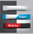 foil or paper packaging stick for coffee salt vector image