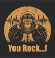 gorilla headphone vector image vector image