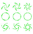 green arrows vector image vector image