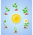 Growth progress icons vector image vector image