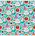 halloween carnival seamless pattern background vector image vector image