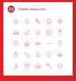 happy icons vector image vector image