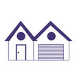 house garage property real estate isolated icon vector image