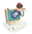 internet personal data steal thief fishing vector image