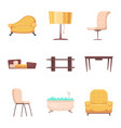 isolated object of furniture and apartment sign vector image vector image