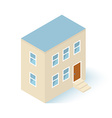 Isometric House Building Isolated on white vector image