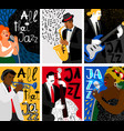 jazz music festival banners vector image vector image