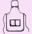kitchen apron vector image vector image