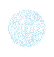 laundry service background dry washing cleaning vector image vector image
