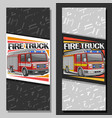 layouts for fire truck vector image