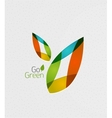 Leaf on paper template vector image