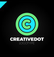 letter c creative circle icon logotype dot vector image vector image