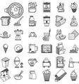 Linear icons collection for food vector image