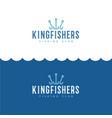 logo king fisher fishing sport club vector image vector image