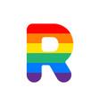 logo letter r rainbow vector image