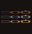 metallic title banners set for epic game design vector image