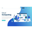 modern flat design concept cloud technology vector image vector image
