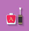 Nail polish nail varnish icon Flat style vector image vector image