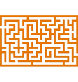 orange labyrinth vector image vector image