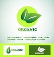 Organic bio food logo vector image vector image