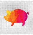 origami boar isolated transparent background vector image vector image