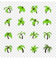 Palm tree icons set pop-art style vector image vector image