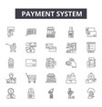 payment system line icons signs set vector image vector image