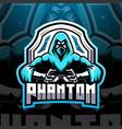 phantom esport mascot logo design vector image vector image
