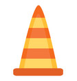 plastic cone road sign fixing warning icon vector image