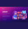 public library concept landing page vector image vector image
