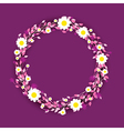 purple round flowers vector image vector image