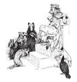 reynard the fox reynards story vintage vector image