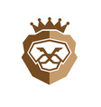 royal king lion logo vector image