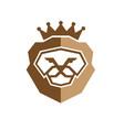 royal king lion logo vector image vector image
