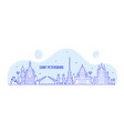 saint petersburg skyline russia city linear vector image vector image