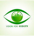 save nature concept with ecocity vector image