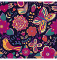 Seamless floral background Copy that square to the vector image vector image