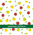 seamless pattern of green and red apples and vector image vector image