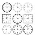 set 9 digital clock vector image