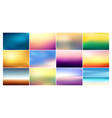 set of blurred backgrounds vector image