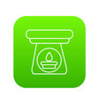 spa aroma bottle icon green vector image