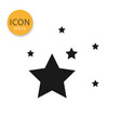 stars icon isolated flat style vector image