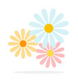 summer flowers flat material design isolated vector image vector image