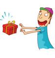 Surprise present vector image vector image