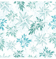 teal tropical leaves summer seamless vector image vector image