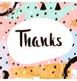 Thanks Handwritten unique lettering Creative vector image vector image