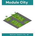 the isometric road in the forest vector image