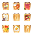 toasts set vector image vector image