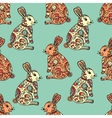 Tribal designed bunny vector image vector image
