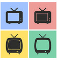 tv icon set vector image